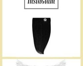 "InstaGlam 1 Piece Clip-in Remy Human Hair Extensions -16""  One Piece by Fakin-It-Hair UK"