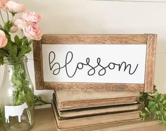 blossom, spring signs, spring decor