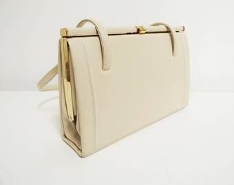 Vintage Handbag, Vanilla, Vintage Lady, Purse, Handbag, Vintage Purse, 1980s, 1960s Style, Fancy Dress, Cream Purse, Cream Handbag, Bag