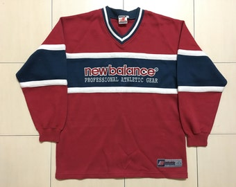 Vintage 90's New Balance Sport Classic Design Skate Sweat Shirt Sweater Varsity Jacket Size L #A518