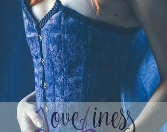 "Victorian corset ""Blue Moon"""