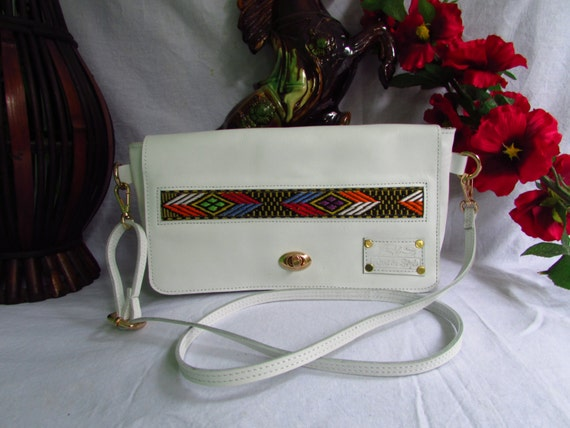 White Leather clutch, White evening clutch, leather clutch, clutch with strap, evenning bag, White evening bag, leather evening bag, ethiopi