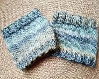 Ombre Boot Cuffs, knitted boot cuffs, boot toppers, leg warmers
