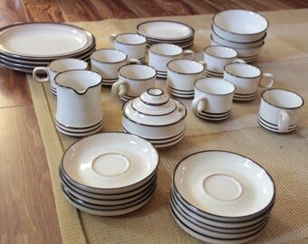 Vintage handcrafted stoneware by Denby 35 piece set