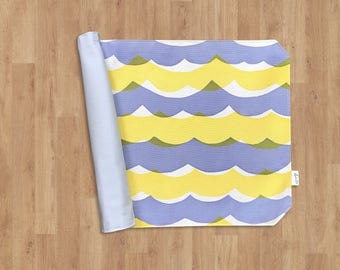 Reversible Placemat of 100% Cotton - purple yellow