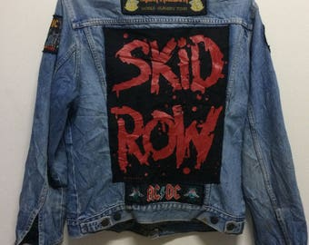Handmade band jacket for rocker//iron maiden//skid row//acdc//ozzy osbourne//metalica//small size