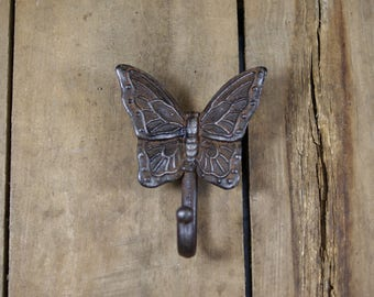 Cast Iron Butterfly Coat Hook