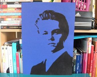 Leonardo DiCaprio stencil painting