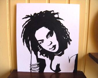 Lauryn Hill portrait painting