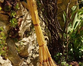 "Sorghum eco broom handmade ""witches broom"" vintage style, eco-friendly,bio-degradable"