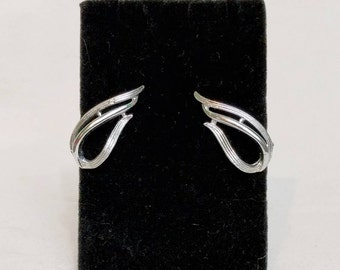 Sarah Coventry Silver Wing Clip On Earrings