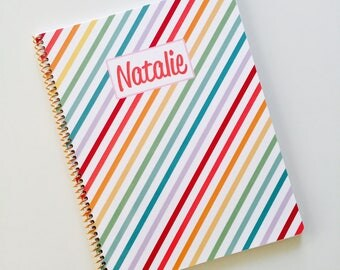 Kid's Gratitude Journal in Rainbow Stripe