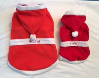 Personalised Dog Santa Suit, Christmas Costume, Dog Christmas Costume, Dogs Xmas Costume, Dog Christmas Gift, Pet Gifts. **FREE GIFT**