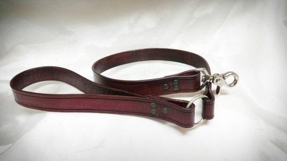 Handmade Leather Bdsm Leashmaturesub Leash By Devilishdevices-6268
