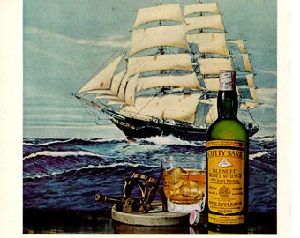 Cutty Sark Scotch Whiskey  1960s Original Ad Great for Wall Art Scrapbooking  Home Decor Man Cave 1705