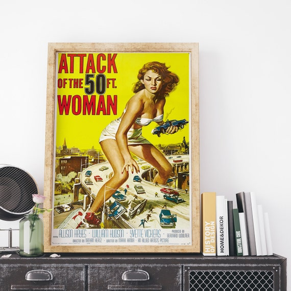 Attack of the 50ft woman 1958 by reynold brown vintage usa for Attack of the 50 foot woman t shirt
