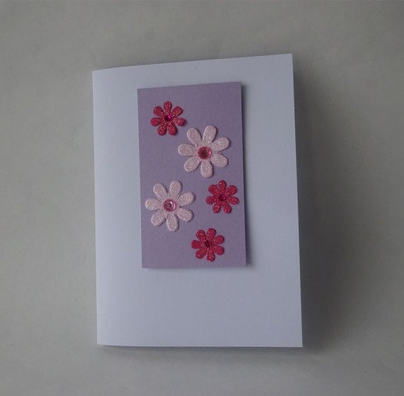 Sale! Valentine's Card - Handmade Card with Flowers - G4