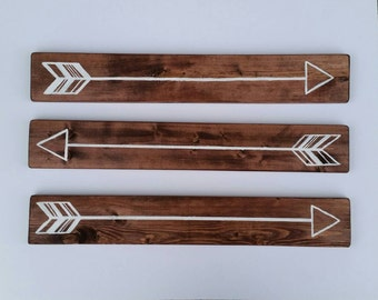 Arrow Signs, Home Decor, set of 3