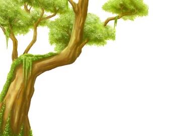 Jungle Tree, Jungle Mural, Jungle Decal, Tree Decal, Jungle Tree Decal, Tree wall sticker, Childrens Decals, kids wall stickers