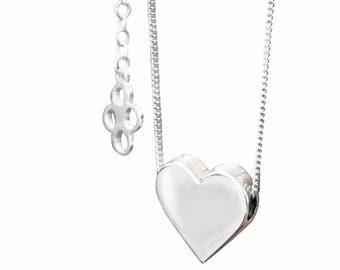 Josephine Valentine Necklace, sterling silver