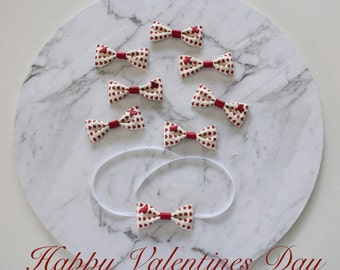 ON SALE* Valentines Day bow / Bunny Bow / Valentines Heart bow for rabbits and small pets