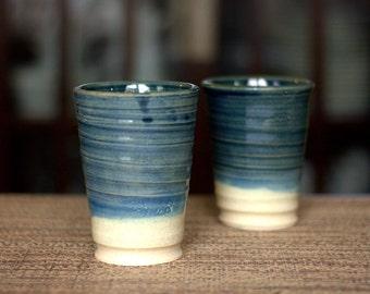 Made to Order - Handmade Set of Tumblers - Handmade Pottery Tumblers - Ceramic Tumblers - Pottery Tumblers - Tumbler Set
