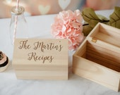 Personalized Recipe Box, Custom Engraved Recipe Box, Family Recipe Box, Mother's Day Gift, Family Name Box, House Warming Gift, Gift Box