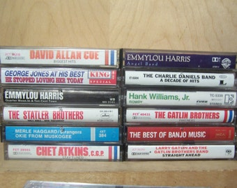 Vintage COUNTRY Cassette Tapes from 1960s - 1990s