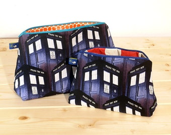 Doctor Who TARDIS Cosmetic or Toiletry Bags