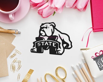 Mississippi State Decal, Yeti Decal, Car Decal, Stainless Steel Tumbler Decal, RTIC Cooler Decal