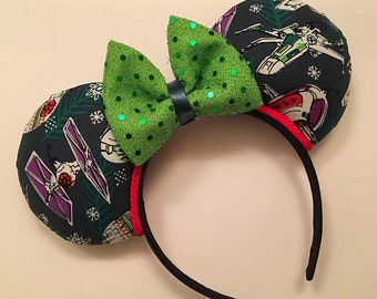Star Wars Christmas Mickey Ears READY TO SHIP