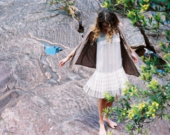 Pleated Vintage Dress - Flapper Style