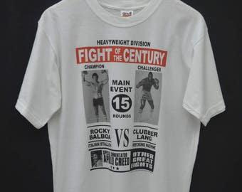Rocky Balboa vs Clubber Lang Shirt Rocky Balboa vs Clubber Lang Fight Of The Century by Rocky TM Tee T Shirt Size M