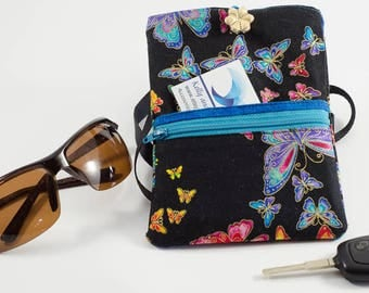 Butterfly Phone Purse,  Crossbody Purse,  Cell Phone Purse, Phone Pouch