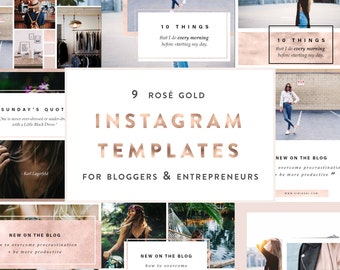 9 Rose Gold Instagram PSD Templates for Bloggers + Entrepreneurs