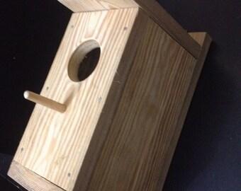 DIY BirdHouse, miniRustic Birdhouse, Larch Wood Birdhouse, Handmade Birdhouse, Garden Birdhouses, Birdhouses, Wooden Birdhouse, Unique Gifts