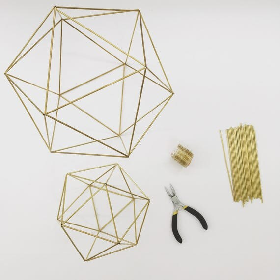 Diy kit pattern geometric icosahedron himmeli wedding