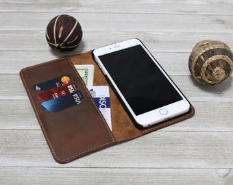 iPhone Case with Credit Card Slots, iPhone 7 case leather, iPhone 7 Plus case leather, iPhone 6 Plus Case, iPhone 6S Plus Cases