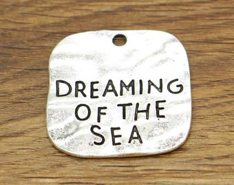 10pcs Large Dreaming of the Sea Pendants Charms Antique Silver Tone 29x30mm cf2648