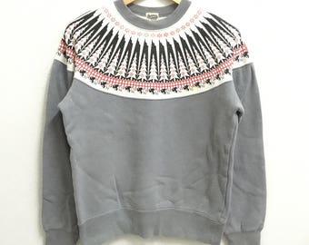 RARE!!! PHERROWS Japanese Sportswear SpellOut Crew Neck Sweatshirts Hip Hop Swag M Size