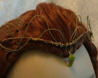 "Headpiece-Crown-Fairy-Elven- Woodland-Tiara-Renaissance ""Finola"""