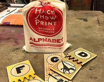 Hatch Show Print Wood ABC Puzzle