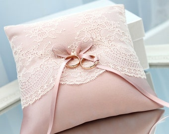 dusty rose ring bearer pillow, dusty rose ring pillow, dusty rose wedding ring pillow, dusty pink ring bearer pillow, dusty pink ring pillow