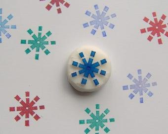 Snowflake rubber stamp, snowflake stamp, snow stamp, winter stamp, christmas stamp, christmas decoration stamp, weather stamp, diy, handmade