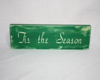 Tis the season, Christmas Decor, Wall Home Decor, Rustic Country Christmas