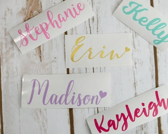 Vinyl name decal, Vinyl name stickers, Personalized name decal, Name decal for car, Personalized tumbler decal, Personalized decal