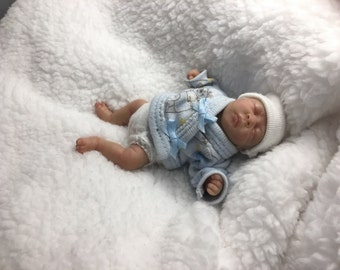 "4.5"" posable, partial clay sculpted ooak baby by TinyToesStudio"