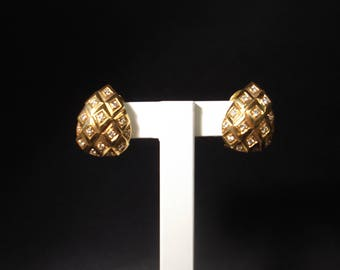 18Kt yellow gold earrings with brilliants