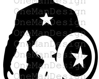 Captain America Silhouette vector - The Avengers vector - SVG - DFX - CDR - Studio3 - Vectors files - Instant Download - Digital Clip Art