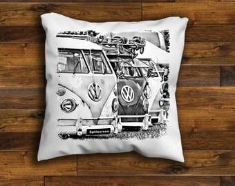 Vintage Retro VW Camper Van Cushion Cover Splitscreen Unique Design Choose your Size  Handmade